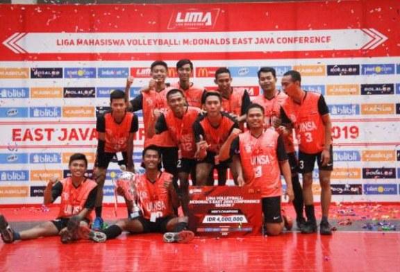 UINSA Sabet Gelar Juara LIMA Volleyball Jawa Timur