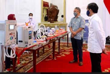 Bangganya, Jokowi Meluncurkan Alat Kesehatan Covid-19 Karya Anak Bangsa