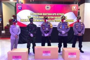 Batalyon Dhira Brata Donasikan 150 APD